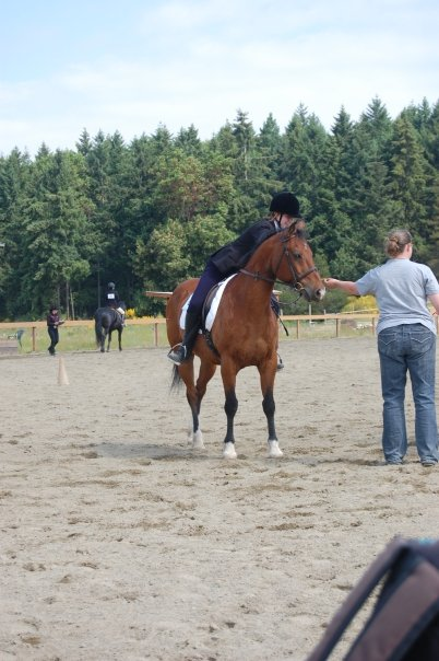 Laura and Buck at a schooling show